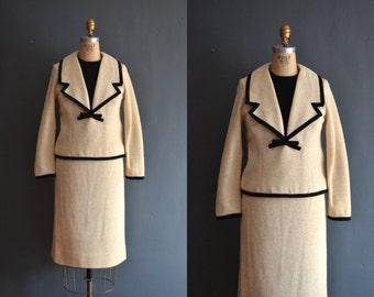 50s skirt suit / vintage 1950s dress skirt