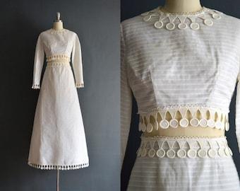 Janelle / 70s cropped wedding dress / 1970s wedding dress