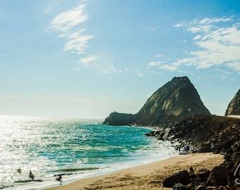 SALE Malibu Beach CA, Califorinia Picture, Beach Photography, 11x14 Photo Art, Frame Option