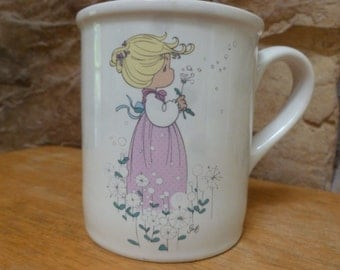 Enesco Precious Moments Mom You're A Wish Come True mug 1995