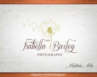 Photography Logo. Flower logo. Dandelion logo BUY 2 and GET 1 FREE!!!