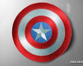 "Captain America's Shield - Extra Large 9"" Motorcycle Jackets sew/iron on Patch"