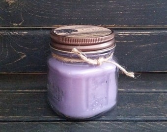 Lilac Scented Candle 8 oz. Mason Jar