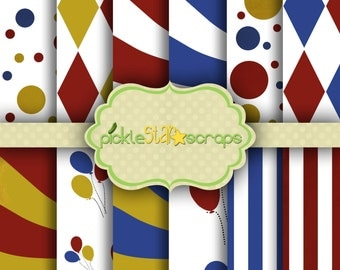 Printable Craft Papers Circus Papers Circus Printable Circus Backgrounds Circus Party Carnival Papers Carnival Party Carnival Backgrounds