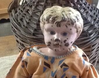 Miss Minerva Metal Head Doll