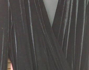 Vintage 80s,  Ultra Dress  New York  Black Velour  Jumpsuit, Size 12