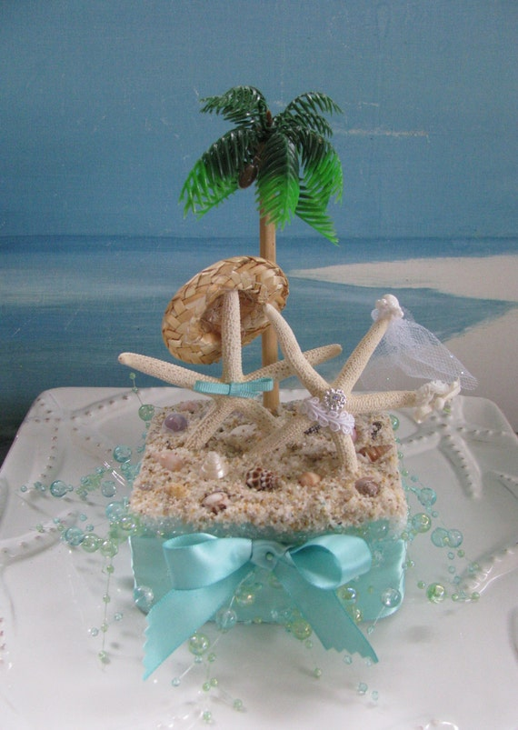 Etsy Listing  Beach Wedding Cake Topper Starfish Cake Ref