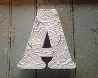 Shabby Chic Metal Letter A