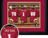 PERSONALIZED & FRAMED Officially Licensed Florida State Seminoles Football Sports Print