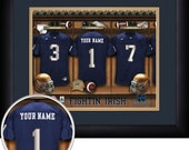 PERSONALIZED & FRAMED Officially Licensed Notre Dame Fighting Irish Football Sports Print