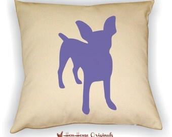 Chihuahua Pillow Cover, Chihuahua Art, Chihuahua Gift, Chihuahua Silhouette, Dog Breed Silhouette, Pet Silhouette, Dog Silhouette