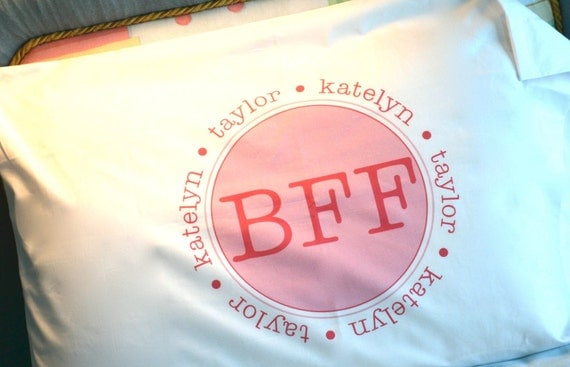 Best Friends Forever BFF Personalized Pillowcase Pillow