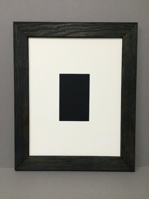 16x20 Cream Signature Mat For 8x10 Picture In Rustic Black