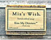 Kiss My Derriere Cellulite Soap - All Natural & Vegan, Coffee Soap, Anti-Cellulite Soap