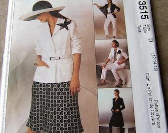 McCalls 3515 uncut size 12 - 16 womens suit