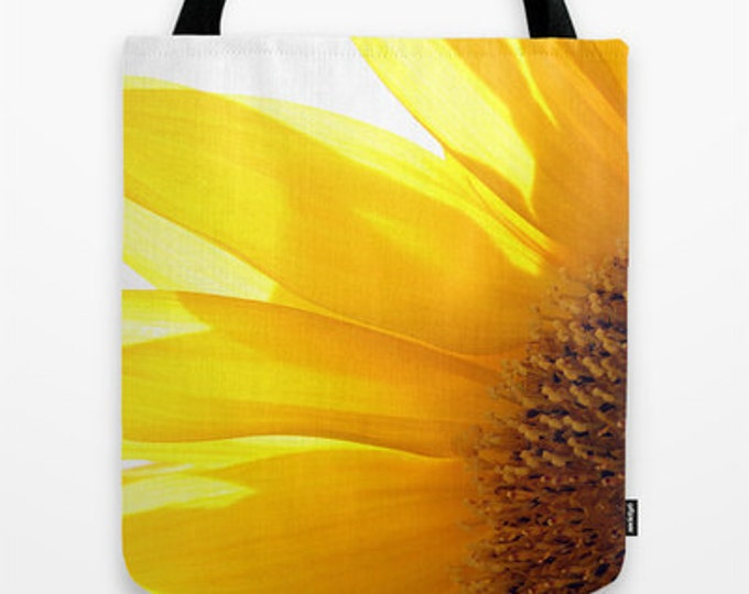 Sunflower 2 Photo Tote Bag, Photo Tote, Photo Bag, Flower Tote, Photography