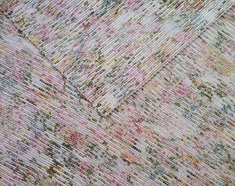 4x6 Rag Rug / Pink, Green, White, Floral