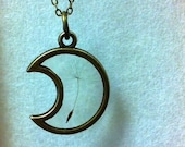 Pressed Flower Dandelion Seed Moon Design Pendant Jewelry Resin Antique Bronze chain Necklace.