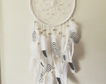 Black and White Dream Catcher Boho Chic Dreamcatcher