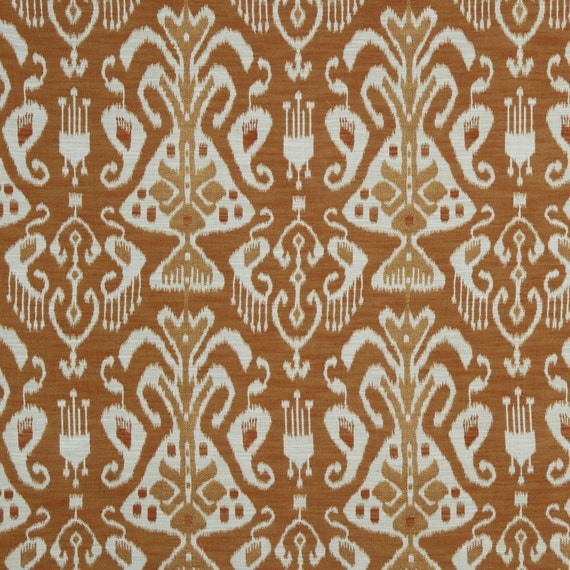 On sale orange ikat upholstery fabric for furniture from for Upholstery fabric for sale