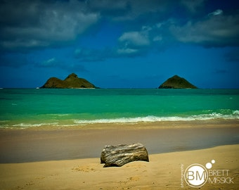 16x20 Lanikai Beach, Hawaii Fine Art Print Wall Decor Hawaii Beach Honolulu