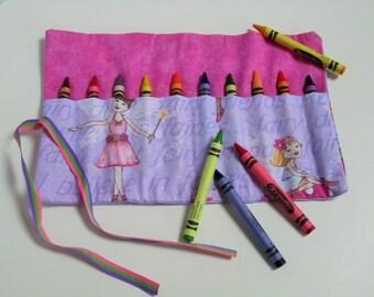 Fairy crayon roll crayon wallet crayon holder party favor