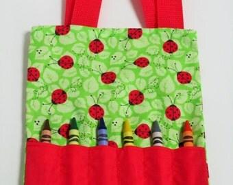 ladybug mini crayon bag party favor bag goody bags activity bag
