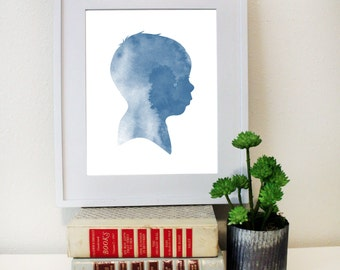Personalized Silhouette Child or Adult Art DIGITAL DOWNLOAD