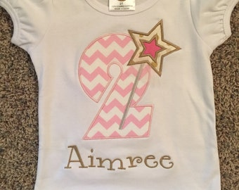 Princess birthday applique t-shirt!