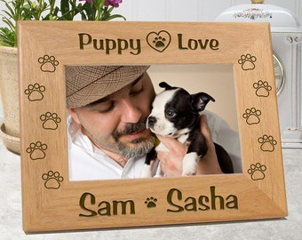 Puppy Love Dog Picture Frame
