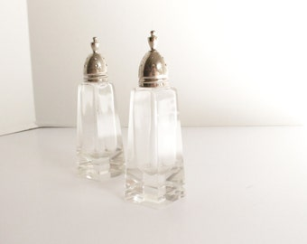Salt and Pepper Sterling and Crystal