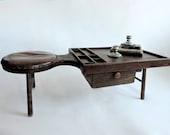 Primitive Cobbler's Bench. Mid 1800's. Antique Industrial Table.