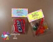 INSTANT DOWNLOAD -Digital File - Burst Bubble Valentine Treat Bag Topper- Printable
