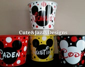 Personalized Disney Theme 5qt Tin Bucket