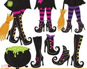 Witchy Witches 2 Clipart Set