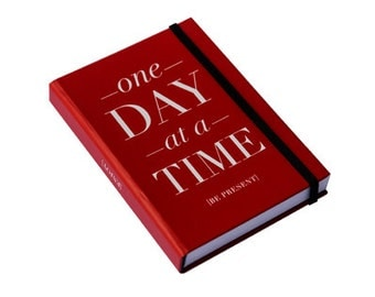 One Day at a Time Mini Journal by [LOVE TO BE] - Cool Stationery - Typographic and Quotes Design