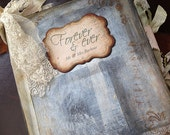 Forever memory Wedding Guest Book - shabby chic theme