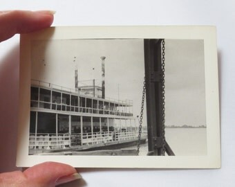 Two Historic 1945 Louisiana Photos: New Orleans (Royal St.) and Baton Rouge (River Boat)