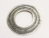 African Silver Pendant Made of Aluminum, Tribal Pendant, Ethnic Pendant (H15)