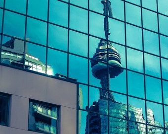 Toronto Photography - Fine Art Print - CN Towner Reflection Blue Wall Art