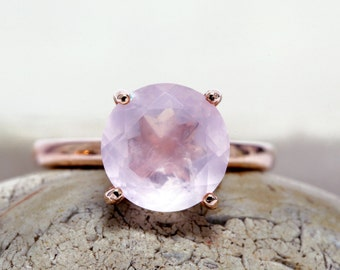 SUMMER SALE - rose quartz ring,rose gold filled ring,pink gold rings,custom stack rings,engraved rings,love ring
