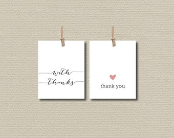 Thank You Favor Tags - Simple & Sweet Love heart design (PP47)