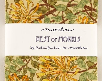BEST OF MORRIS - Charm Pack - by Barbara Brackman for Moda
