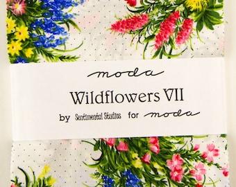 WILDFLOWERS VII  - Charm Pack - by Sentimental Studios for Moda