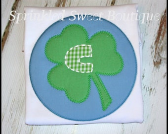 St.Patty's Day Shamrock Boys or Girls Applique Shirt -Pink or Blue