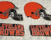 """Cleveland Browns """"NO SEW"""" Appliques"""