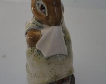 Vintage Porcelain Beatrix Potter's Chippy Hackee F. Warne & Co Ltd Copyright 1979 Beswick England Peter Rabbit Chippy Hackee Rabbit Figurine