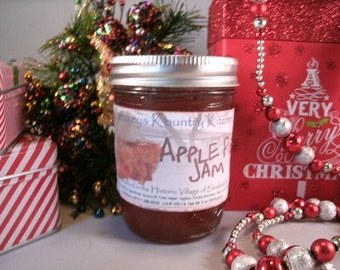 Homemade Apple Pie Jam, Handcrafted, Gourmet jam & jelly. Apple Pie Jam, food gift, holiday gift, fruit spread, homemade jam, fruit jelly
