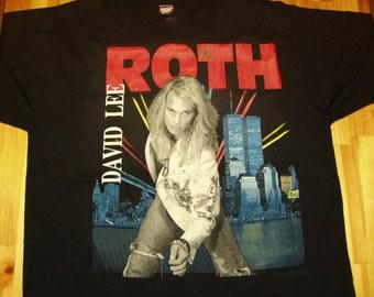 David Lee Roth Tour TShirt 1991 A Little Ain't Enough DeadStock, Van Halen tshirt vintage Classic Rock shirt van halen tour steve vai tshirt