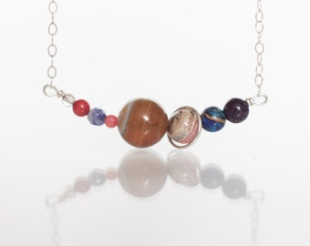 Mini Solar System Necklace or Bracelet